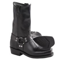 Double H Leather Harness Boots - CWS-Toe (For Men) in Black Galaxy - Closeouts