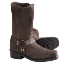 Double H Leather Harness Boots - CWS-Toe (For Men) in Cracked Chocolate - Closeouts