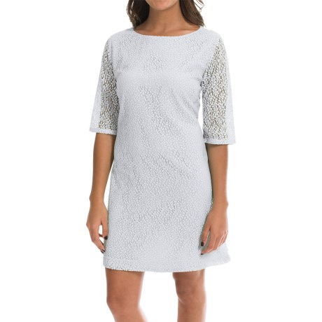 Double Layer Lace Dress 3/4 Sleeve (For Women)