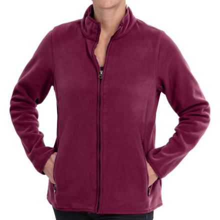 Double-Sided Fleece Jacket - Full Zip (For Women) in Maroon - 2nds
