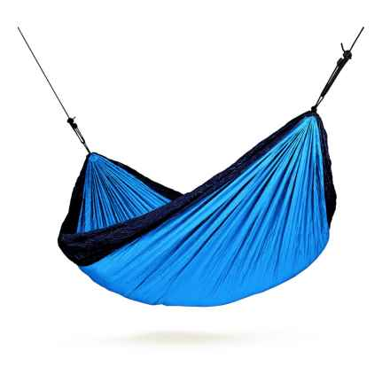 Double Travel Hammock with Integrated Suspension in Blue - Closeouts