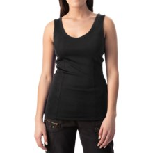 Double V-Neck Tank Top (For Women) in Black - 2nds