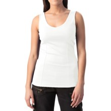 Double V-Neck Tank Top (For Women) in White - 2nds