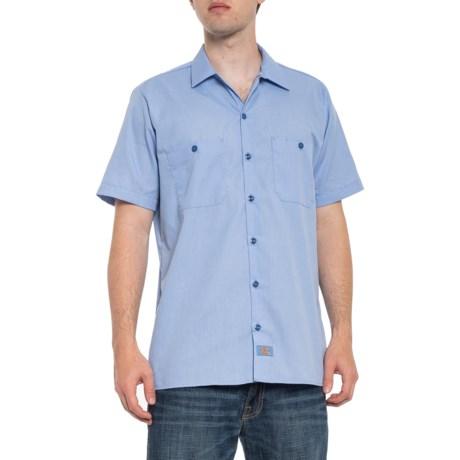 Dow Twill Work Shirt - Short Sleeve (For Men) - LIGHT BLUE (XL )