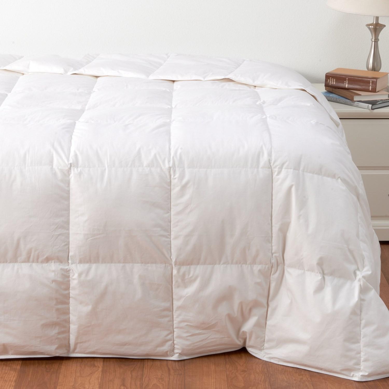 Down Inc 230 Tc Cotton Snow White Down Comforter King White Save 50
