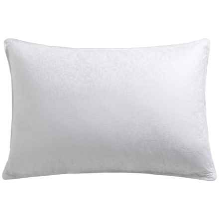 Down Inc. 300 TC Morning Glory Jacquard Down Pillow - King, Firm Support in White - Overstock