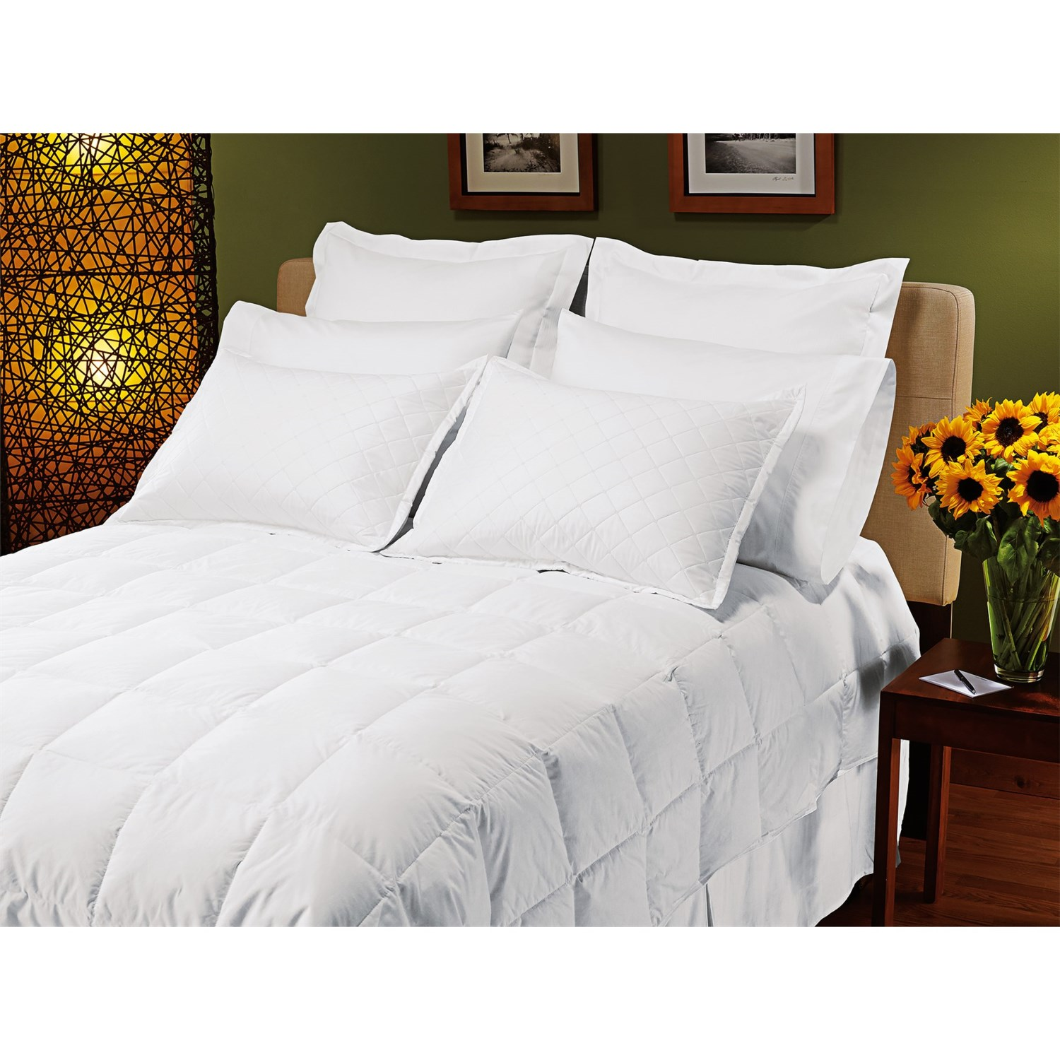 down inc cambric cotton down alternative comforter california king midweight 7741v save 42. Black Bedroom Furniture Sets. Home Design Ideas