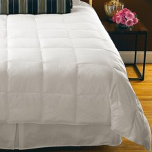 Down Inc. Cambric Cotton Down Alternative Comforter - King, Lightweight in White - Overstock