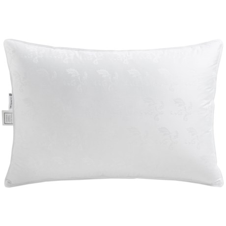 Down Inc. Elise Jacquard White Duck Down Pillow Queen, Firm Support