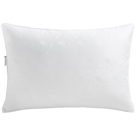 Down Inc. Elise Jacquard White Duck Down Pillow Queen, Medium Support