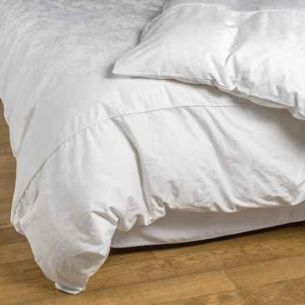 Down Inc. Jacquard Arbor Duvet Cover - King, 400 TC Cotton in White - Closeouts