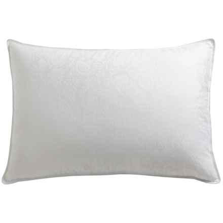 Down Inc. Paisley Jacquard 16 oz. White Down Pillow - Standard, Soft Support in White - Overstock