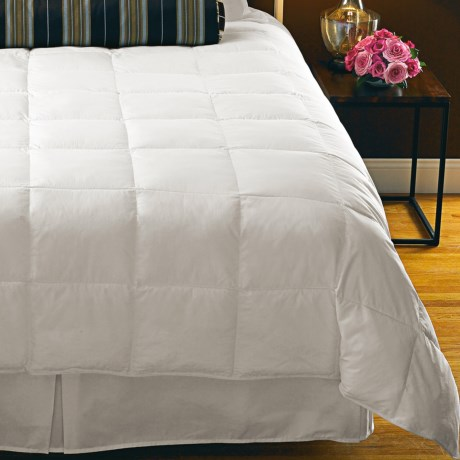 Down Inc. Premium White Duck Down Comforter King, Lightweight