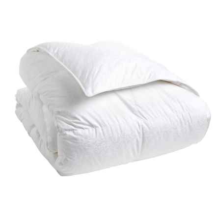 Down Inc. Premium White Duck Down Morning Glory Comforter - King, Lightweight in White - Closeouts