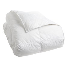 Down Inc. Premium White Duck Down Paisley Comforter - King, Medium Weight in White - Closeouts