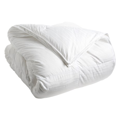 Down Inc. Premium White Duck Down Sausalito Comforter Queen, Medium Weight
