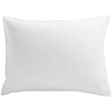 Down Inc. Sausalito Jacquard Duck Down and Feather Pillow - Standard in White - Overstock