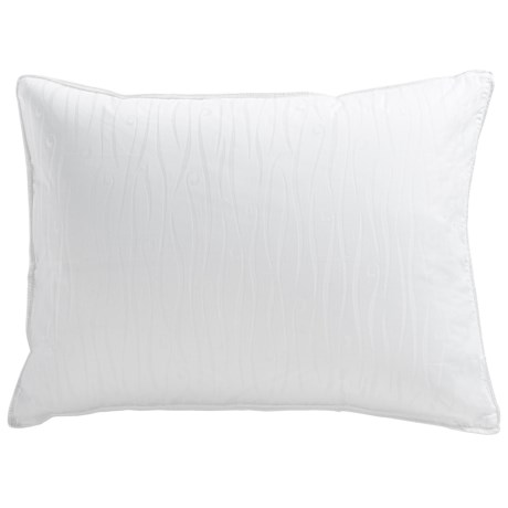 Down Inc. Sausalito Jacquard White Duck Down Pillow Standard, Medium Support