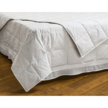 Downlite Hotel Quality White Duck Down Blanket - Full, 230 TC, 600 Fill Power in White - Closeouts