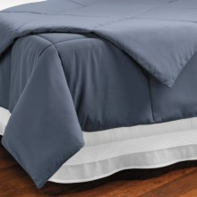 Downlite Microfiber Down Alternative Comforter - Full-Queen, 220 TC in Indigo - Closeouts