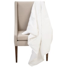 Downtown Alpine Down-Alternative Throw Blanket in White - Closeouts