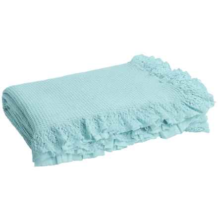 DownTown Annie Coverlet - Queen in Vintage Blue - Closeouts