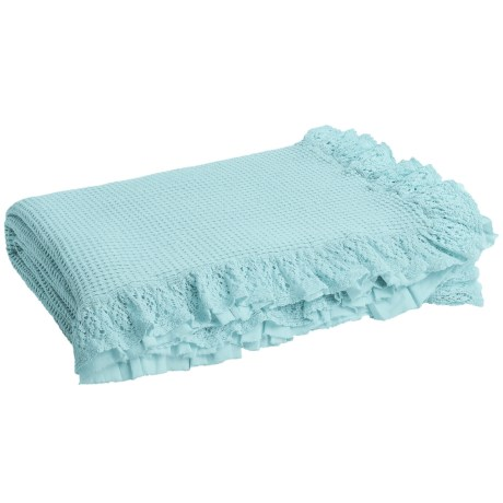 DownTown Annie Coverlet - Queen in Vintage Blue