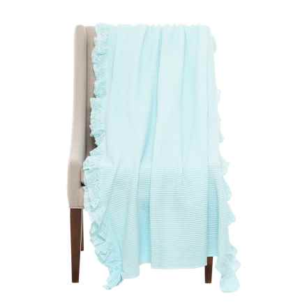 DownTown Annie Throw Blanket in Vintage Blue - Closeouts