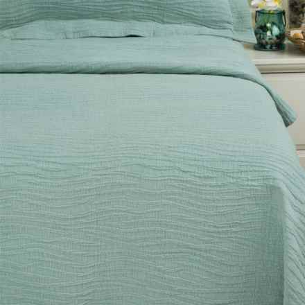 DownTown Aqua Dreams Matelasse Coverlet - King in Aqua - Closeouts