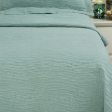 DownTown Aqua Dreams Matelasse Coverlet - Queen in Aqua - Closeouts