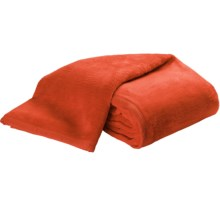 DownTown Cashmere-Soft Blanket - Queen in Burnt Orange - Closeouts