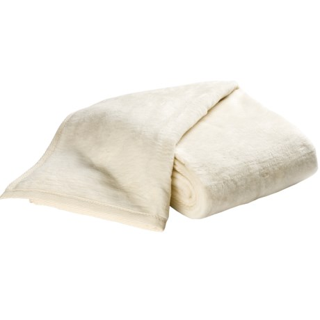 DownTown Cashmere-Soft Blanket - Queen in Cream