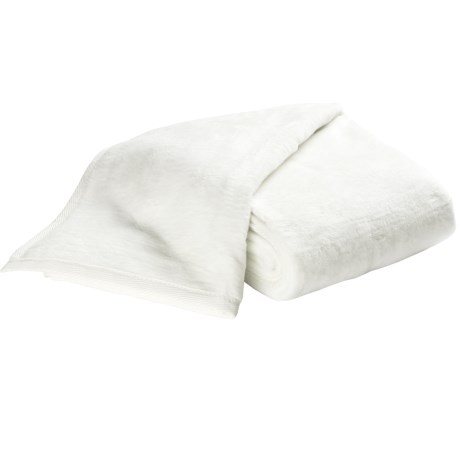 DownTown Cashmere-Soft Blanket - Queen in White