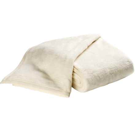 DownTown Cashmere Soft Cotton-Acrylic Blanket - Twin in Cream - Overstock