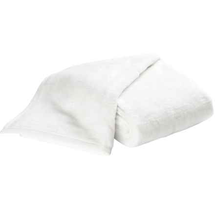 DownTown Cashmere Soft Cotton-Acrylic Blanket - Twin in White - Overstock