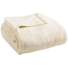 DownTown Cashmere-Soft Cotton Blend Blanket - Twin in Winter White - Closeouts