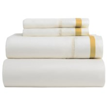 DownTown Chelsea Sheet Set - Queen, 400 TC Cotton Sateen in Ivory/Gold - Closeouts
