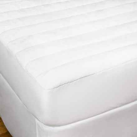 DownTown Comfort Microfiber Mattress Pad - Full in White - Overstock