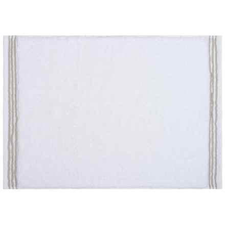Downtown Company Aqua Collection Bath Mat in Taupe/White - Closeouts