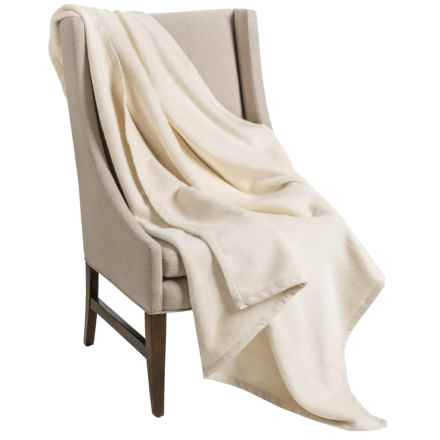 "DownTown Company Granny Throw Blanket - Egyptian Cotton, 50x70"" in Ecru - Overstock"