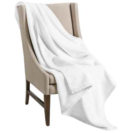 "DownTown Company Granny Throw Blanket - Egyptian Cotton, 50x70"" in White - Overstock"