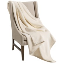 Downtown Company Granny Throw Blanket - Egyptian Cotton in Ecru - Overstock