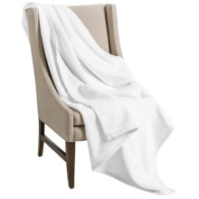 Downtown Company Granny Throw Blanket - Egyptian Cotton in White - Overstock