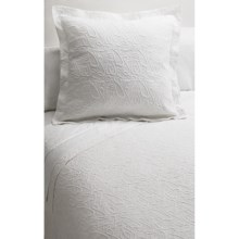 DownTown Company Signature Egyptian Cotton Matelasse Sham - Euro in White - Closeouts