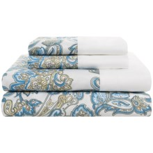 DownTown Designer Collection Printed Sheet Set - Twin, 400 TC Cotton Sateen in Peizli - Overstock