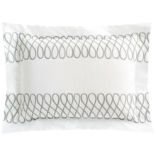 DownTown Designer Pillow Sham - Boudoir, 400 TC Cotton Percale in Grey Loop - Closeouts