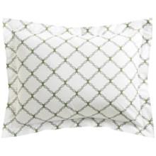 DownTown Designer Pillow Sham - King, 400 TC Cotton Percale in Grey Kip - Closeouts