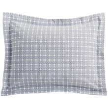 DownTown Designer Pillow Sham - Standard, 400 TC Cotton Percale in Navy Plaid - Closeouts