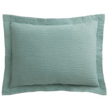 DownTown Geo Matelasse Pillow Sham - Standard, Egyptian Cotton in Aqua - Closeouts