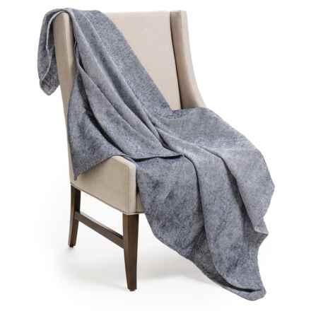 "DownTown Herringbone Throw Blanket - 50x70"", Egyptian Cotton in Navy - Overstock"